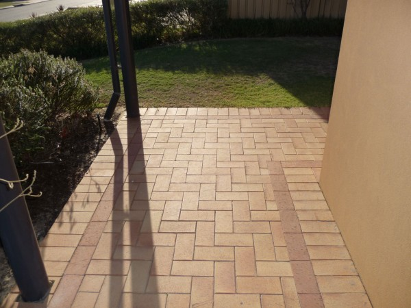 brick paving walkway
